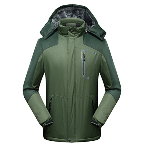 [WWL Fashion Men's Waterproof Mountain Jacket Fleece Windproof Ski Jacket Armygreen] (Best Figure Skating Costumes)