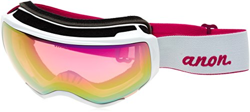 Anon WM1 Snow Goggles Pearl White With Pink SQ & Blue Lagoon Lens -  13230102107
