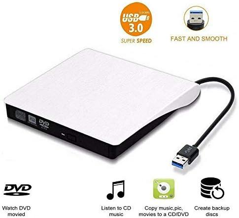 DVDドライブ 外付けスリムUSB 3.0 DVDドライブDVD±RW、CD-RWバーナープレーヤーのためにMacのノートPCのラップトップ JPLJJ