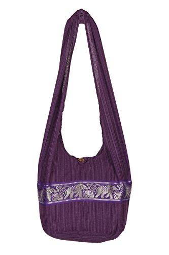 ThaiUK, Borsa a spalla donna Purple Stripe
