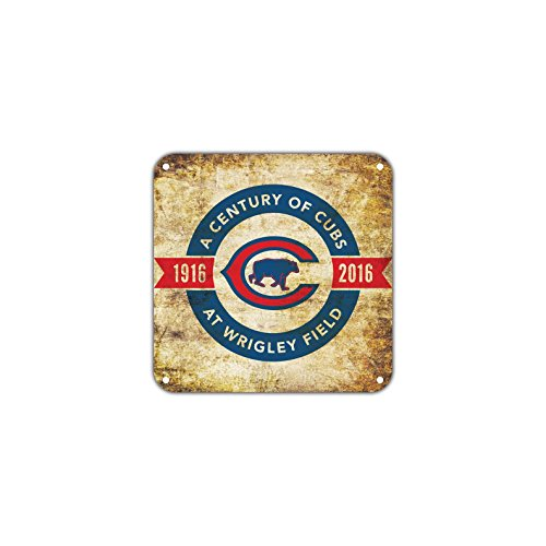 A Century of Cubs From 1916 to 2016 at Wrigley Field 100th Anniversary Vintage Retro Metal Wall Decor Art Shop Aluminum 12