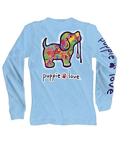 Puppie Love Abstract Pup Adult Long Sleeve T-Shirt-XL by Puppie Love (Image #1)