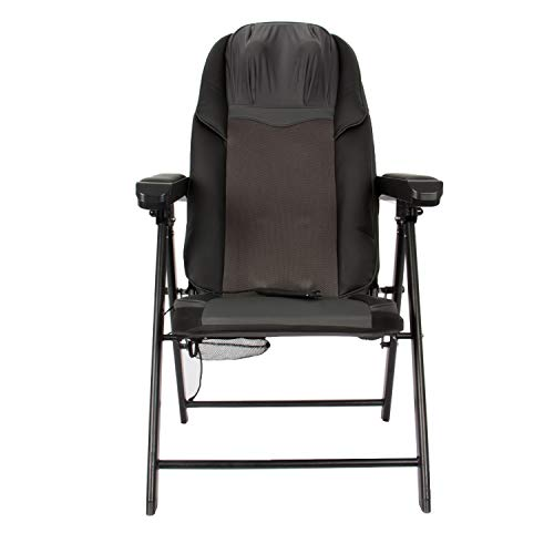 Lifesmart FR-M25G Calla Casa Series Large Folding Heat and Rolling Includes Remote in Black Portable Massage Chair (Calla Chair)