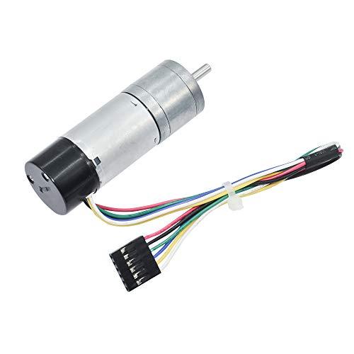 Azssmuk Metal Gear Motor DC 12V 300RPM with 48CPR Hall Sensor Encoder for Arduino Robot Control