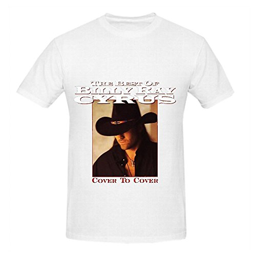 The Best Of Billy Ray Cyrus Cover To Roll Men Crew Neck Digital Printed Shirts (Billy Ray T-shirt Cyrus)