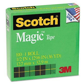 Scotch® Magic™ Office Tape with 1'' Core TAPE,MAGIC 1/2X1296 (Pack of50) by MMM C