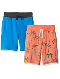 Amazon Brand - Spotted Zebra Boys' 2-Pack French Terry Knit Shorts