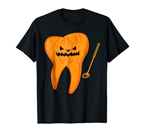Halloween Spooky Dentist T Shirt Scary Dental Assistant Tee