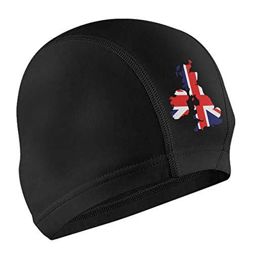 Lodve Hvst Great Britain Swim Caps Fit Unisex Waterproof Swimming Cap for Long Hair Short -