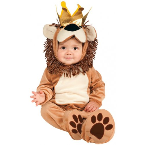 [Rubie's Costume Cuddly Jungle King Of The Jungle Romper Costume, Tan, 12-18 Months] (Cuddly Lion Baby Costumes)