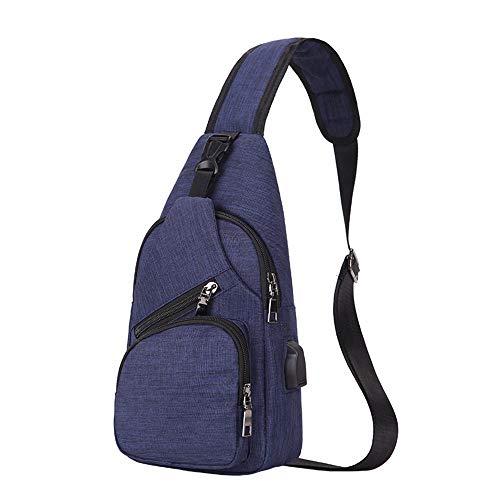 Bolsa Purple pequeña para Bandolera Mini Color y Adecuado Cruz Bolso Mochila De múltiples Light Cofre Cuerpo para Bandolera Hombre Azul Mujer Diario Asdflina Uso Fines zwgFxf