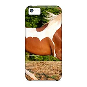 Sanp On Case Cover Protector For Iphone 5c (animals Spotted Horse)