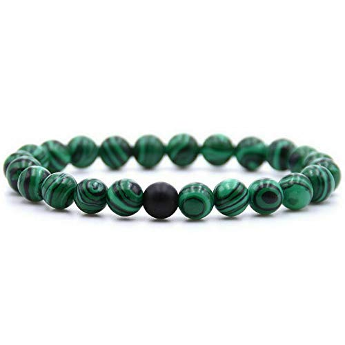 Hemau Natural Gemstone Beads Buddha Head Beaded Men Womens Lava Rock Bracelet | Model BRCLT - 964 |