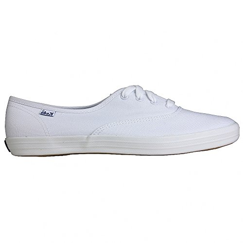 Keds Women's Champion Original Canvas Sneaker, White, Size 5.0