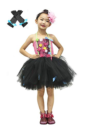 SanLai Rock Star Tutu Dress Costumes for Girls Halloween Birthday Valley Girl Role Play Outfit 1T 2T ()