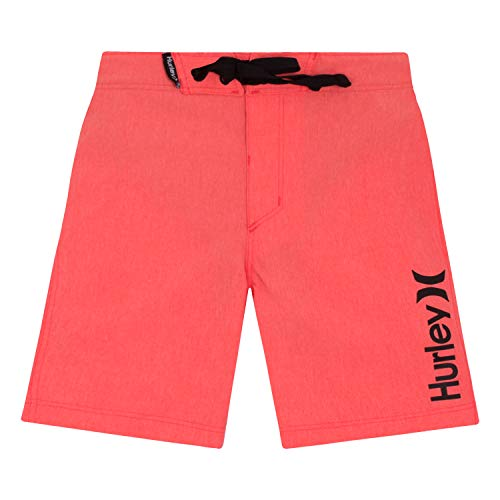 Hurley Boys' Toddler Board Shorts, Bright Crimson Heather, - Heather Crimson