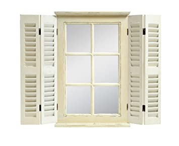 Spiegel Fenster Holz Dekoration Für Die Wand Vintage Landhaus Fensterläden  Shabby Chic