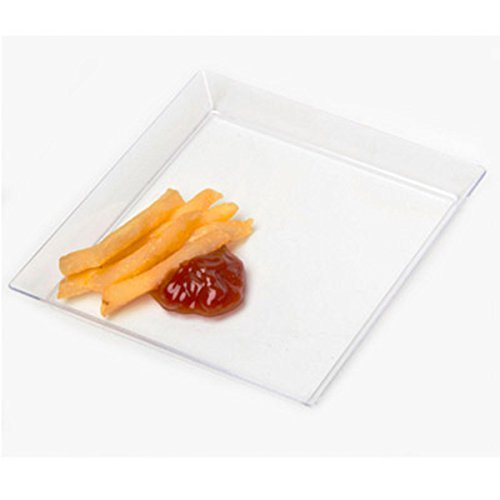 Clear Small Wonder 4 1 / 2インチクリアMini Square Dish Plates – emi-625 Case of 200   B00WF9NVDM