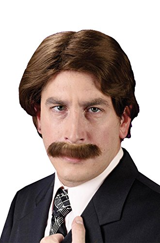 70's Wig And Moustache Set - Adult Std.