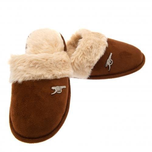 Arsenal Zapatillas Mujer Forro Polar todos los tamaños Slip en Mulas 100% oficial AFC perfecto regalo de Navidad, 3-4 UK 35-37 EU