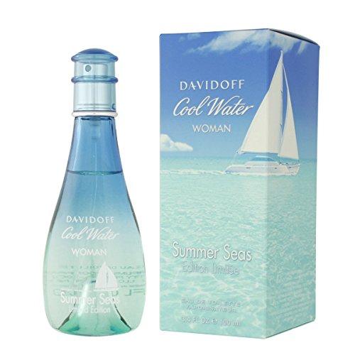 Davidoff Cool Water Summer Seas Limited Edition Eau De Toilette Spray for Women, 3.4 Fluid Ounce