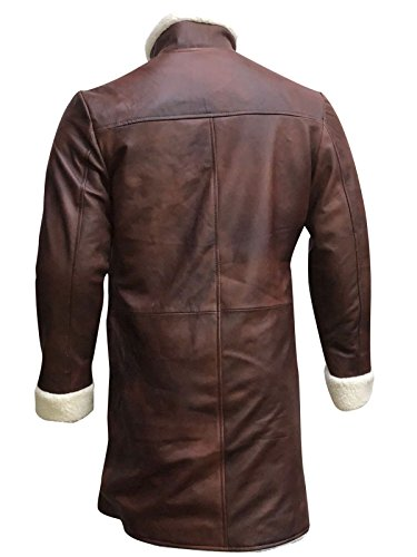 Larga Abrigo para hombre marrón Gabardina Manga First Fashion PC6ZFRwq
