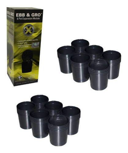 NEW! (2) C.A.P EBB-EXP6 EBB & GRO Grow Flow 6 Pot Site Hydroponic Expansion Kits -