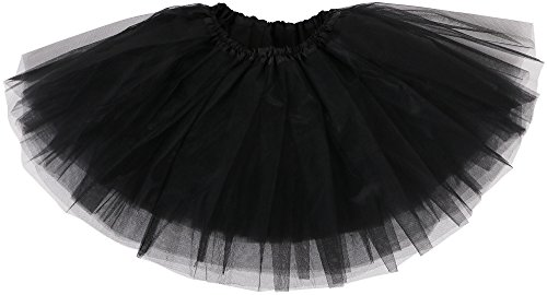 Simplicity Baby Cute Tulle Tutu Skirt for Dress Up and Fairy Costumes, Baby (6-18 mos), Black]()