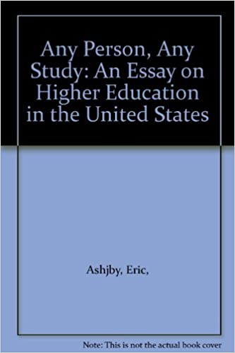 any person any study an essay on higher education in the united  any person any study an essay on higher education in the united states eric ashby 9780070100220 com books