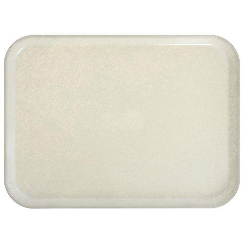 (Cambro Camtray Rectangular Cream Antique Parchment Fiberglass Tray - 20