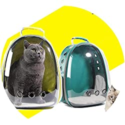 shine-hearty Cat-Carrying Backpack Pet Cat Backpack for Kitty Puppy Chihuahua Small Dog Carrier Crate Outdoor Travel Bag Cave for cat,Yellow