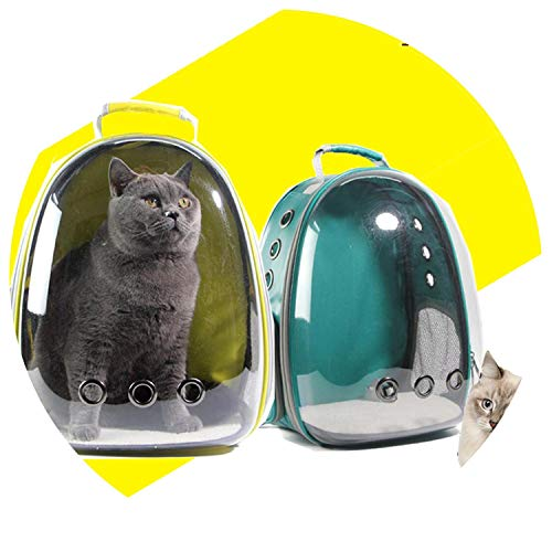 shine-hearty Cat-Carrying Backpack Pet Cat Backpack for Kitty Puppy Chihuahua Small Dog Carrier Crate Outdoor Travel Bag Cave for cat,Violet ()