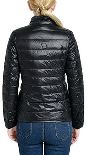 Manteau Longues Blouson Noir Hiver Zippe Femme Parka Veste Lgre Mochoose pour Doudoune Ultra Manches zFnqIR