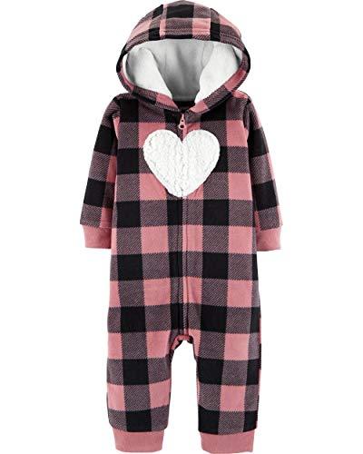 - Carter's Baby Girls' Plaid Hooded Fleece Jumpsuit, 12 Months