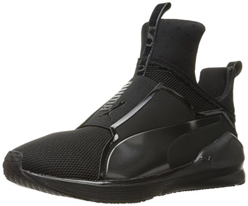 PUMA Women's Fierce Core Cross-Trainer Shoe, Black Black, 8.5 M US
