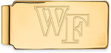 14k Yellow Gold LogoArt Official Licensed Collegiate Wake Forest University (WFU) Money Clip