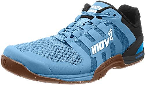Inov-8 Womens F-Lite 235 V2 - Lightweight Minimalist Cross Training Shoes - Zero Drop - Athletic Shoe for Gym, Training and Weight Lifting - Wide Toe Box - Light Blue/Gum M6.5/ W8