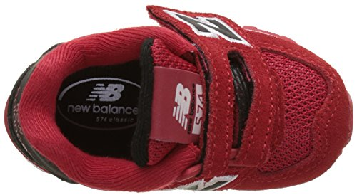 574 Balance and Rouge Hook Loop Basses High Visibility Red New Mixte Baskets Enfant qO5pAap