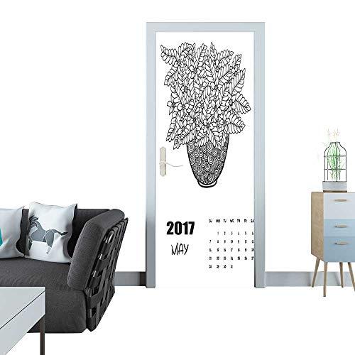 Anmaseven Glass Door Sticker Decals May 2017 Calendar Line A