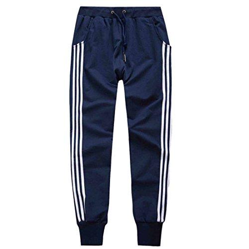 Royal Nouvelles Stripes Coulissee Taille Secondaires Bleu Pantalon Harem Sport Thin Femmes Pantalons ZndqBwxFPP
