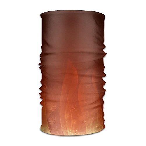 WEEDKEYCAT Golden Red Flame Headwrap Unisex Multifunction Headwear Polyester Quick Dry Soft Headband Neck Scarf,Premium Headdress Travel Magic Head Scarf Bandana Mask Neck Gaiter For Men Women