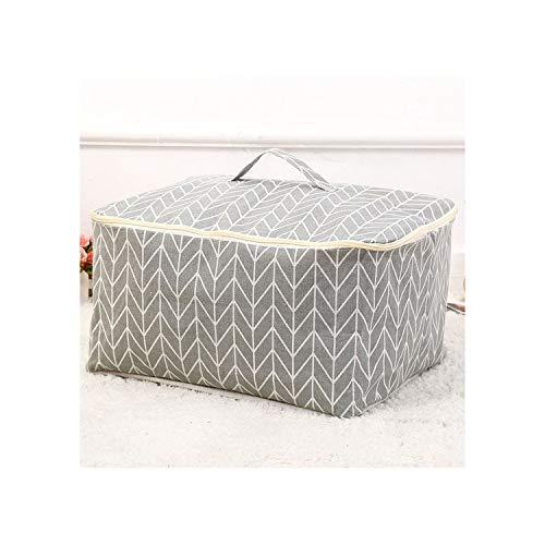 - New Large Cotton Linen Folding Bag Home Organization Quilt Toy Storage Box Bins Clothes Organizer Travel Bag,6