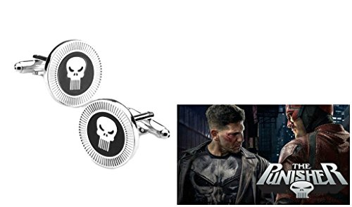 [Marvel Comics (Daredevil) Punisher Skull Logo Cufflinks By Athena] (Punisher Costumes For Sale)