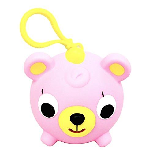 Oshaberi Doubutsu Talking Animal Ball Borukuma Stress Ball - Key Chain Clip - Pink Bear