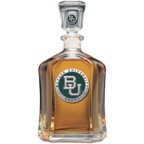 Team Color Logo Baylor Bears Decanter Glass Bottle by Heritage Metalworks
