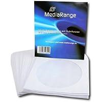 MediaRange BOX65 estuche de CD y DVD - Funda (Color blanco, Papel), 50 unidades