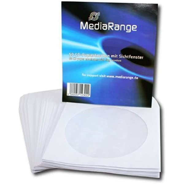 MediaRange BOX65 estuche de CD y DVD - Funda (Color blanco, Papel), 50 unidades: Amazon.es: Informática