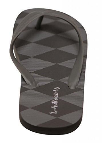 Mens summer MSY017 cool thong plaids beach amp; flip sole flop LA checks Beauty Gray EwqZWUUg