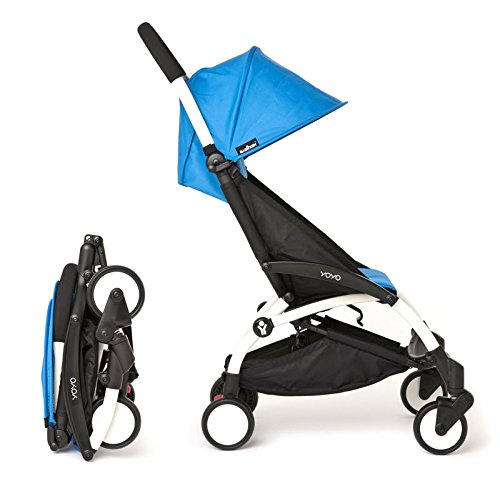 Babyzen Silla de paseo YoYo ultra-compacta Chasis White Color Azul: Amazon.es: Bebé