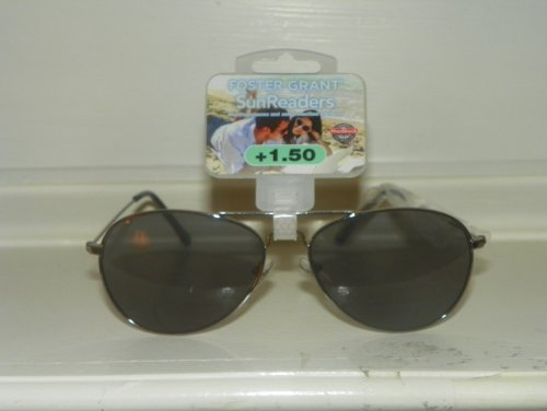 +1.50 Reading Glasses / Sun Glasses Aviator Style Combination by No Line Sun - Perth Sunglasses